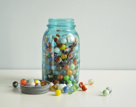 Image result for mason marble jar